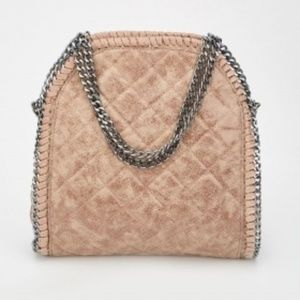 Hi-Shine Quilted Shoulder Bag